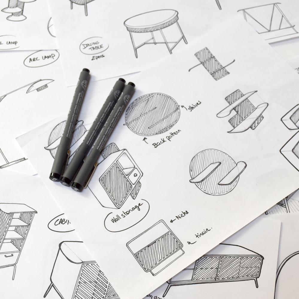studio dessin mobilier luminaire